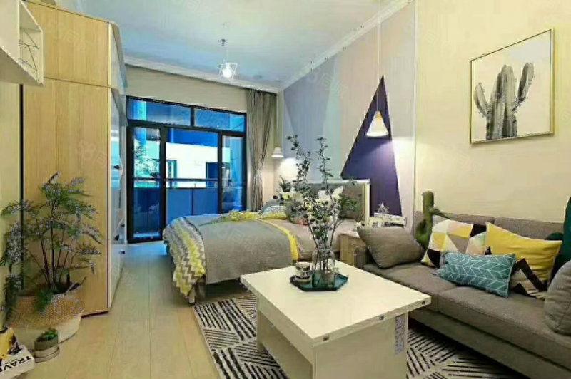 售楼部底价精品公寓带8平米阳台托管月收益2800