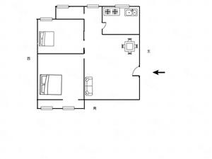 陇海路金域上郡旁,众鑫佳苑南北通透两室两厅低楼层价位低