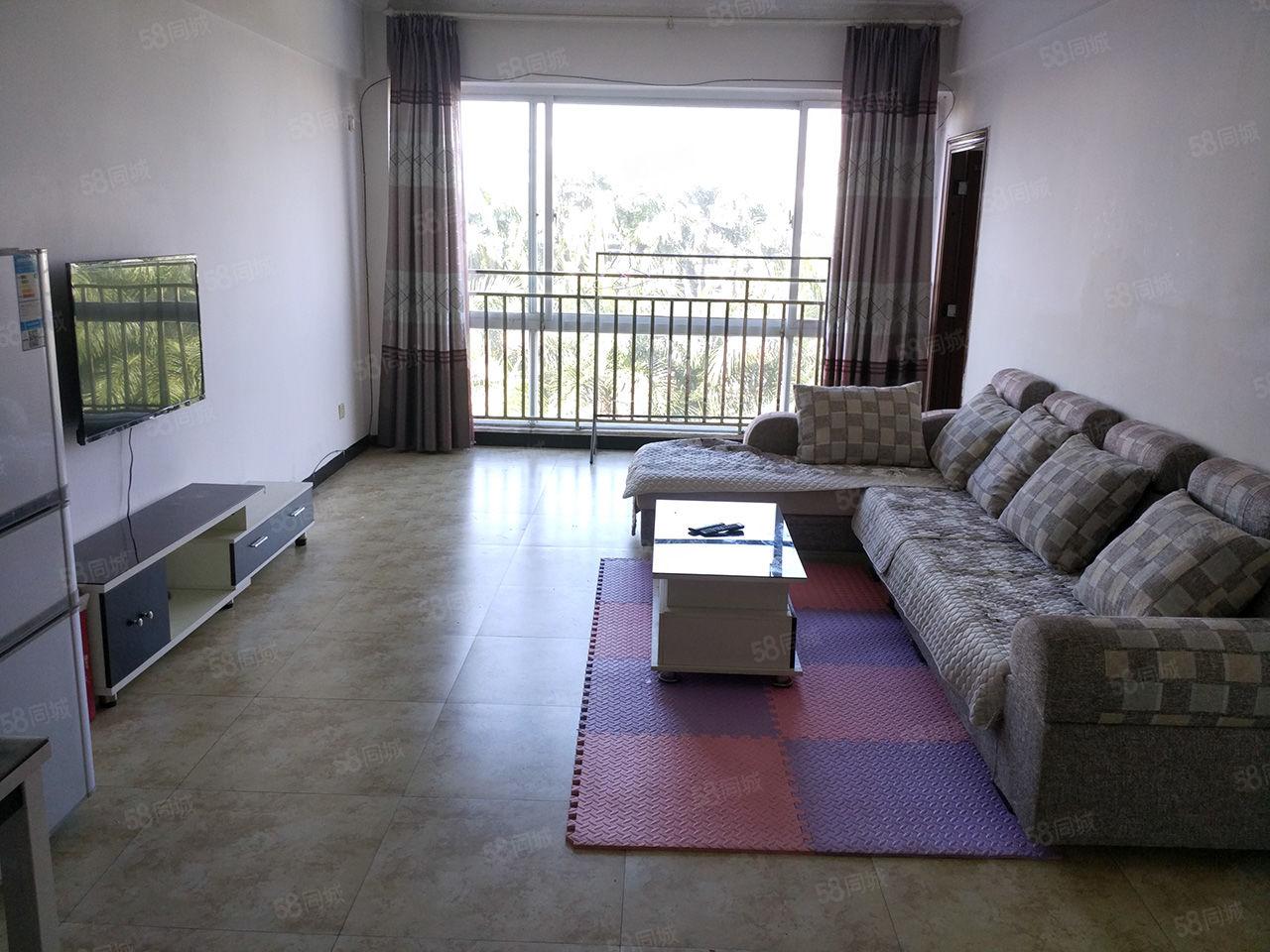 市中心华丰3室1厅电梯公寓带家具家电空调