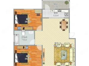 水木清华毛坯两室两厅93平方63万