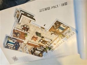 鹰城广场旁金石里巷176平豪华四室南北通透准现房随意装修