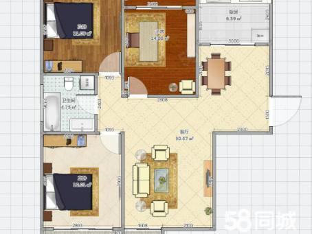 繁华地段南山花苑离东一中很近3室2厅毛坯房急售变现