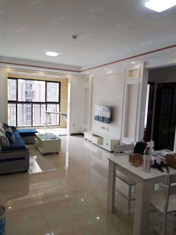 万达广场2室2厅电梯房精装修全套家具家电拎包入住