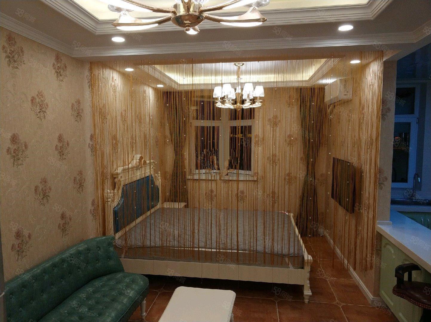 桥南曼哈顿G区纽约立方精装1室干净新家电全包取暖电梯