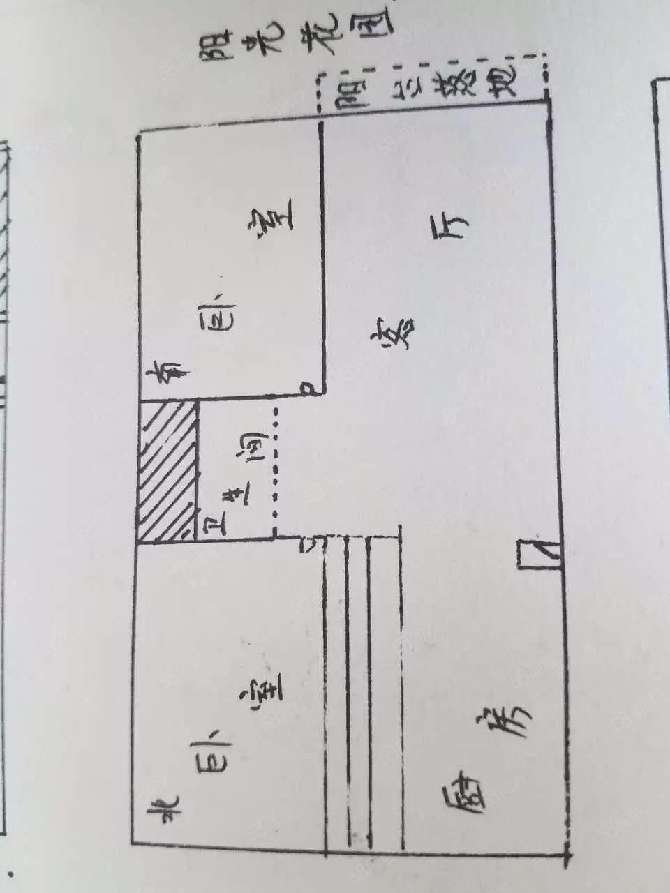 阳光花园小区.4楼.南北通透.南明厅