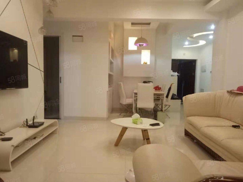 中融中央公馆2600元2室2厅1卫精装修,家具家电齐全
