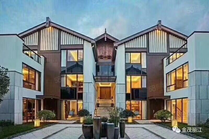 云南空气质量首选城市之丽江,位于高端度假区,雪景独栋别墅