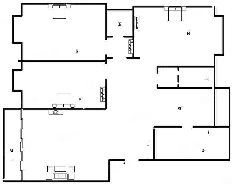 陇海路未来路中间位置多层4楼全明户型均价13300急