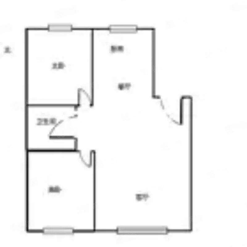 香漫花都69平年租两万三千元两室一厅随时入住看房方便优质房源