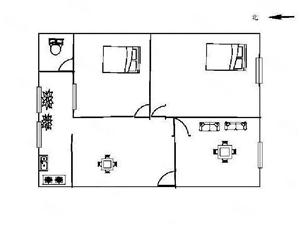 云开小区精装4楼28.6万温馨2居室24小时看房