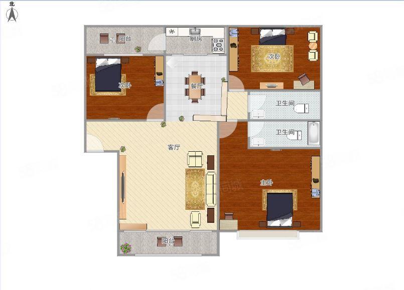 澳门拉斯维加斯平台县金荷家园1250元3室2厅2卫,业主诚心出租
