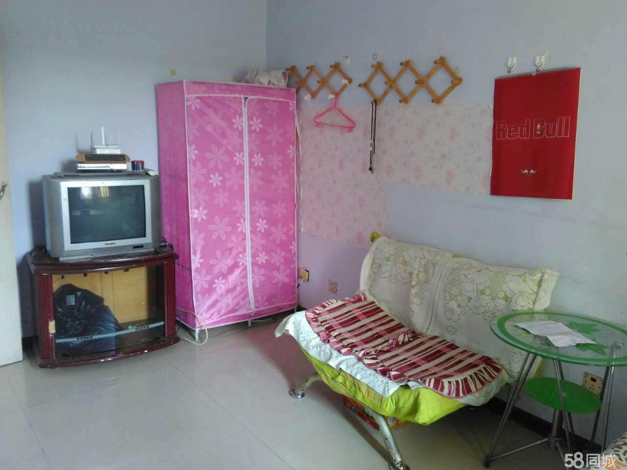 东方国际1室1厅40平地砖双人床沙发衣柜热水器洗衣机无线网