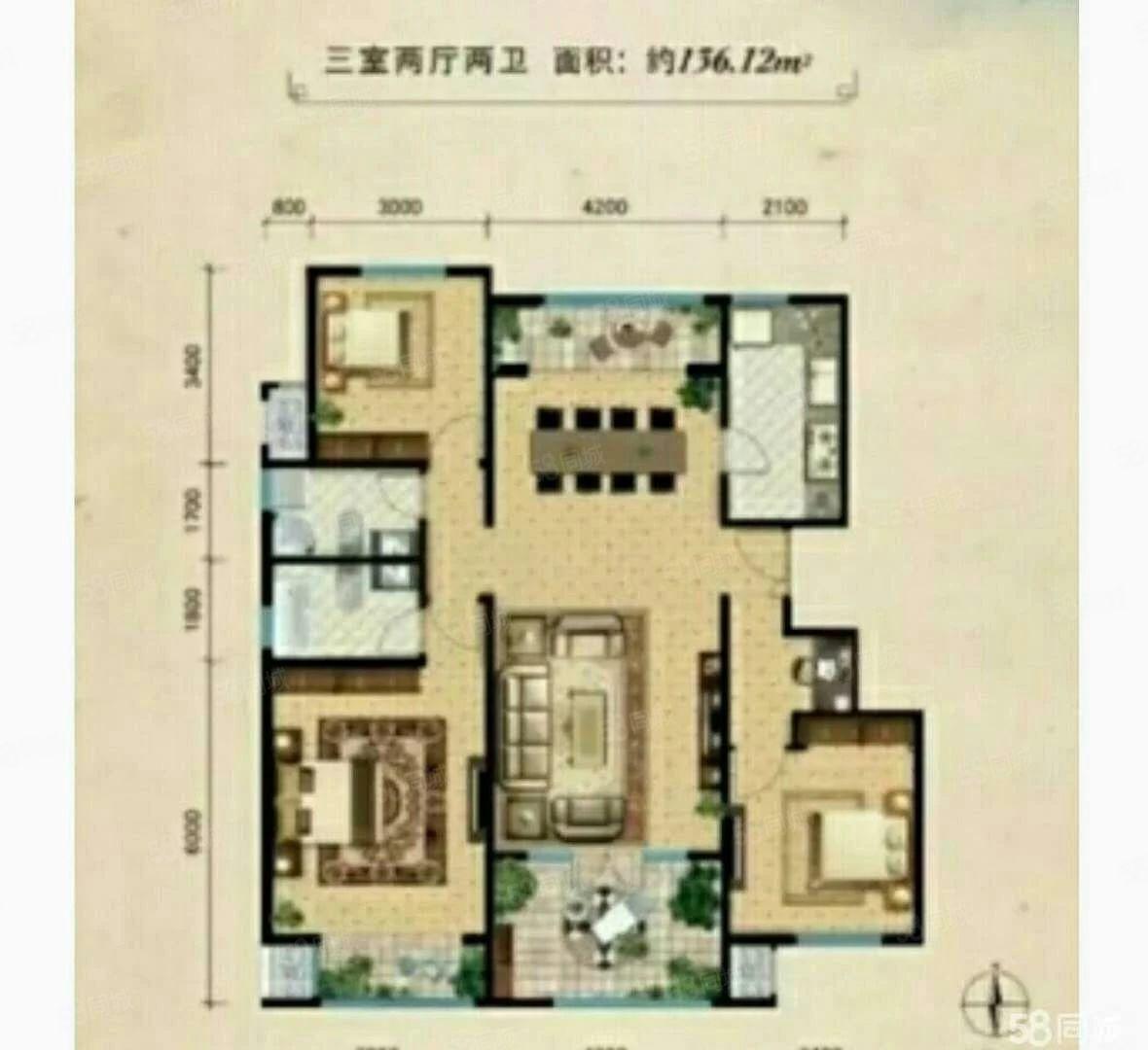 出售首开兰溪谷3室2厅2卫高档小区1楼前后带花园