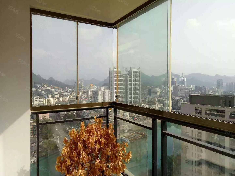 时代商汇电梯高层江景房2室2厅1卫精装修拎包入住