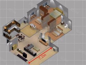 中航城国际公寓4室2厅2卫4800元