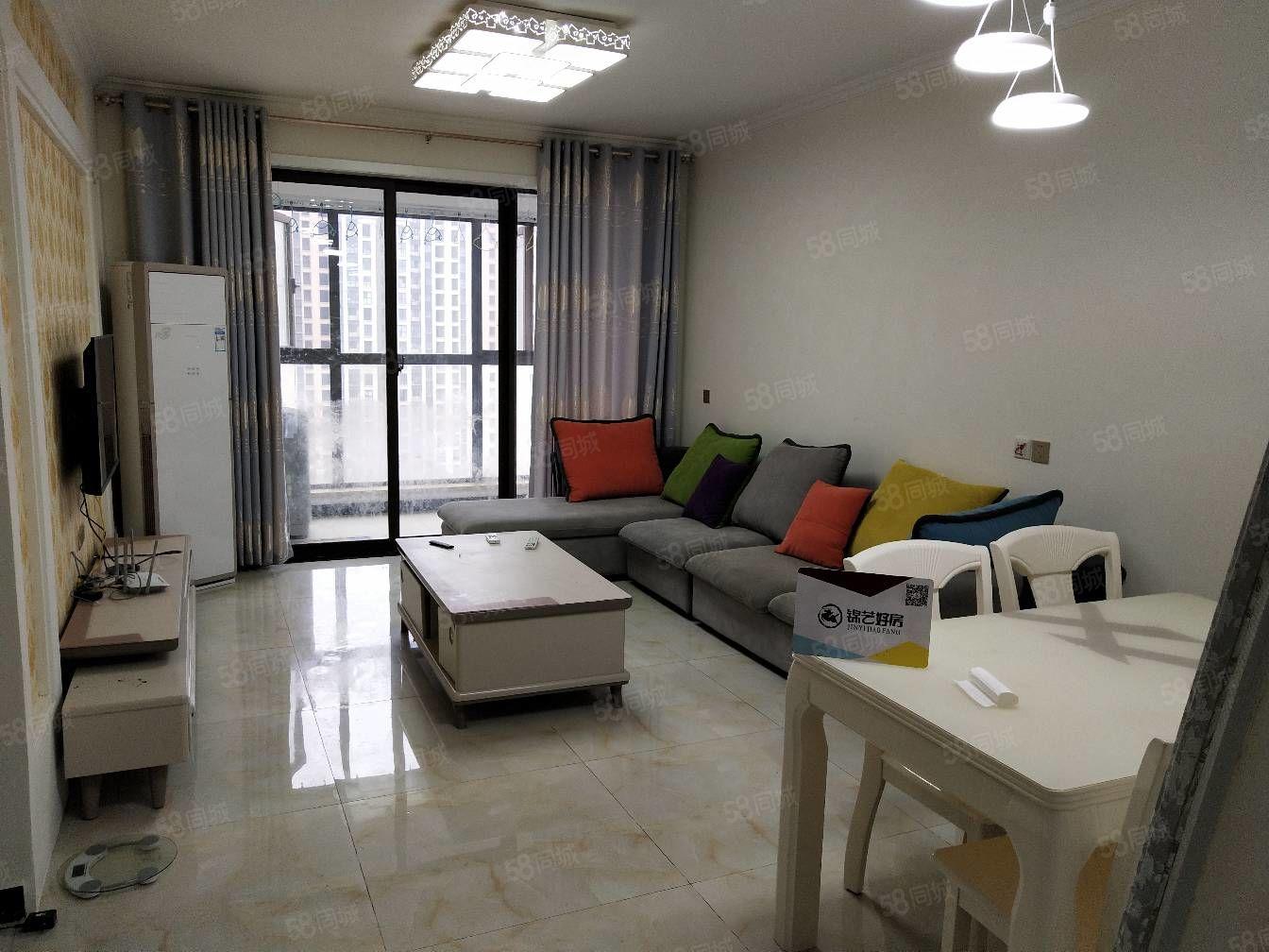 双湖大道龙湖锦艺城精装三室拎包入住装修一年多了