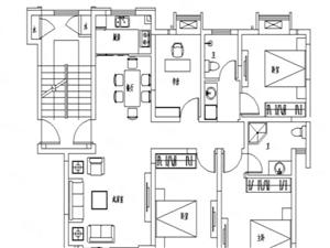 合和百富城新小,4室2厅2卫,多层1楼满五