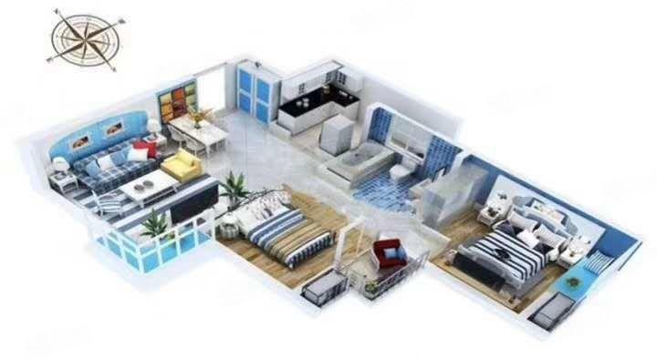 正弘中央公园二期毛坯房,三室二厅,可租10年以上,抵个物业费