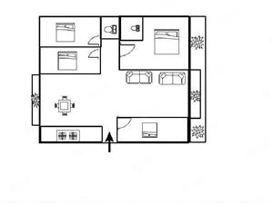 青龙河边孝心一楼162平精装大四房送40平大花园看房方便