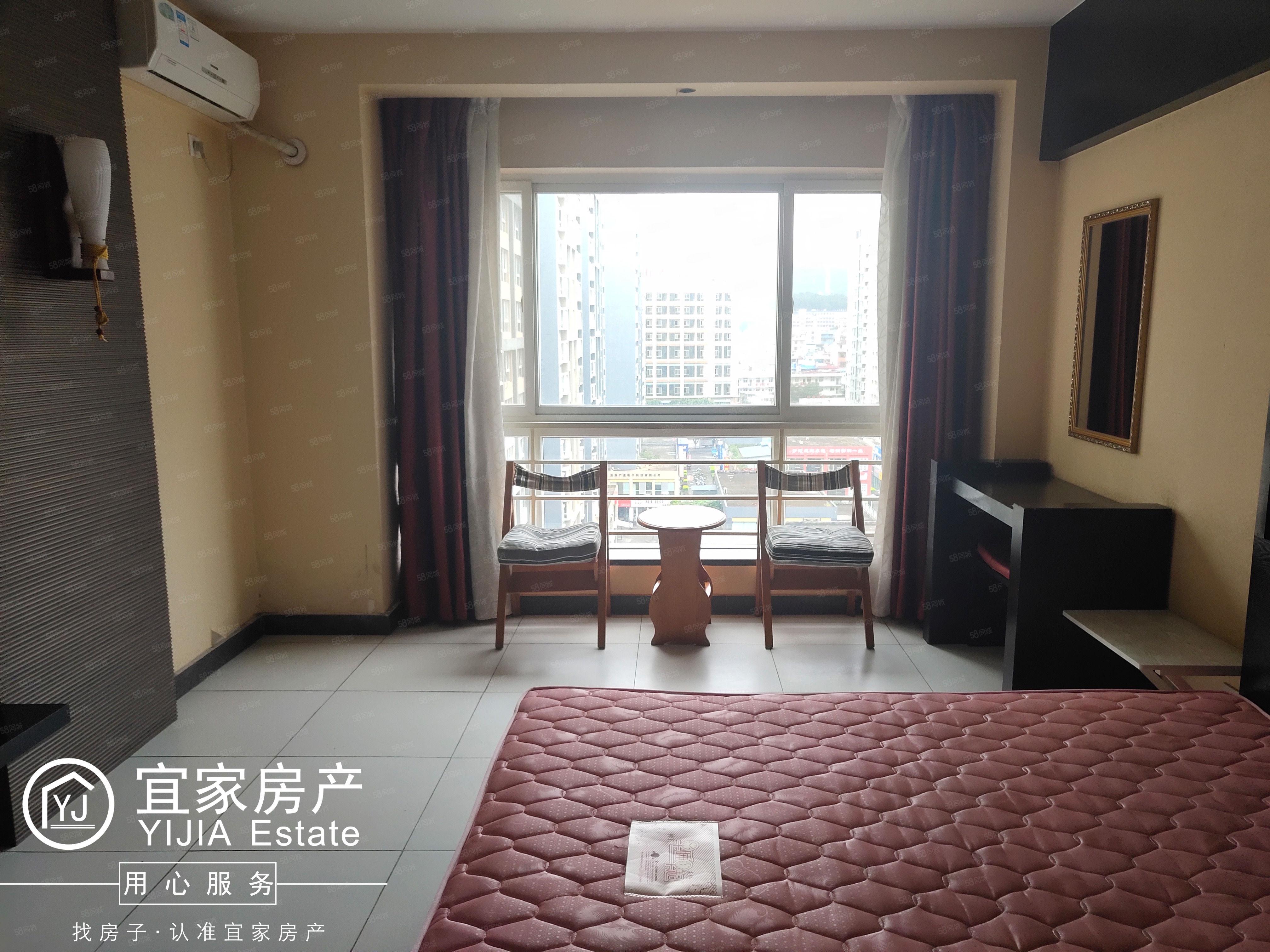 时代广场、带家具、带空调、1室1厅1卫、单身公寓、精装修澳门金沙平台