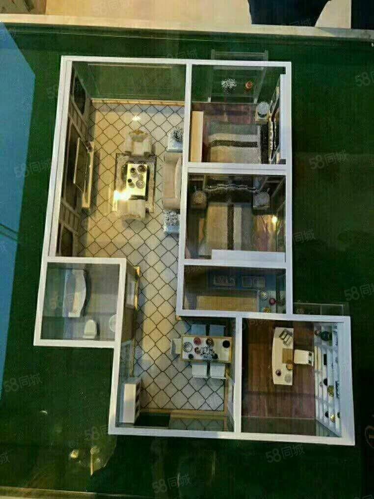 春天家园99平两室精装修住房1200元/月带家具出租