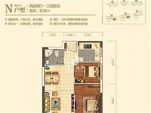 宏景花园56平方毛坯正规两房两厅大阳台采光好朝南