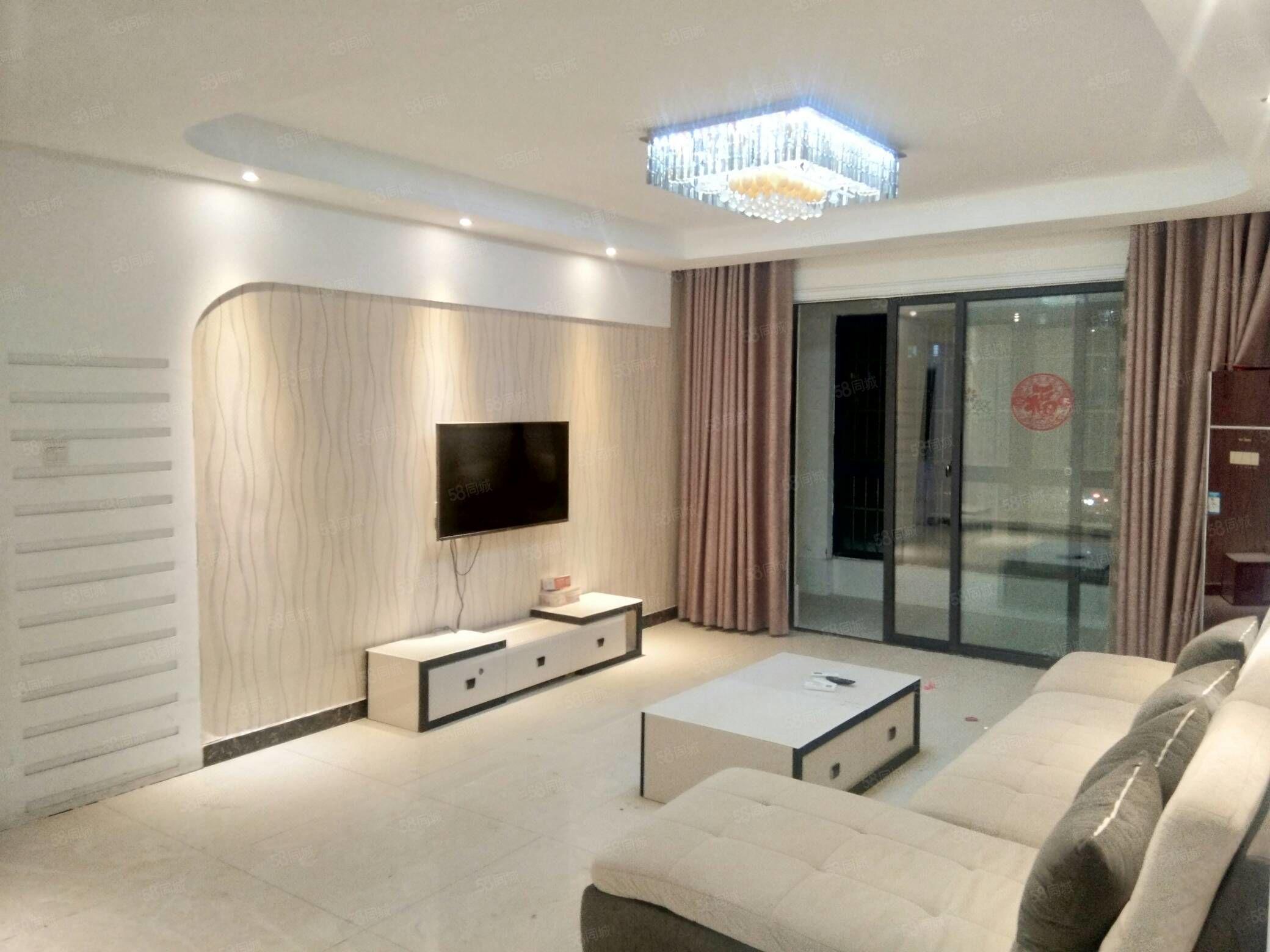 国购名城,三室,豪装有四台空调,一年21000元,可半年付。