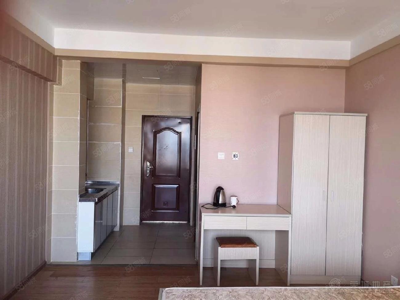 龙马移动营业厅附近时代新都汇,精装修单身公寓带家具,可季度付