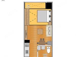 万达公寓1房精装修可以半年付
