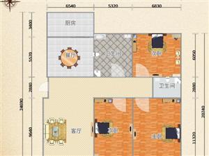 世纪城中央特区3室2厅2卫带超大带窗地下室可采光