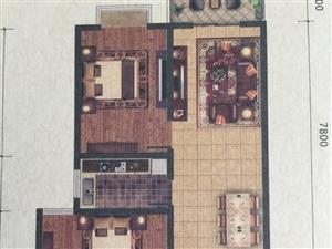 新葡京城内金域华府2室2厅1卫