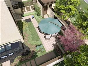 真实别墅,买180平得360平,送前后花园+独立车库