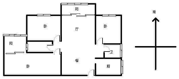 中央商务区金港国际3室2厅131平米简单装修押一付三