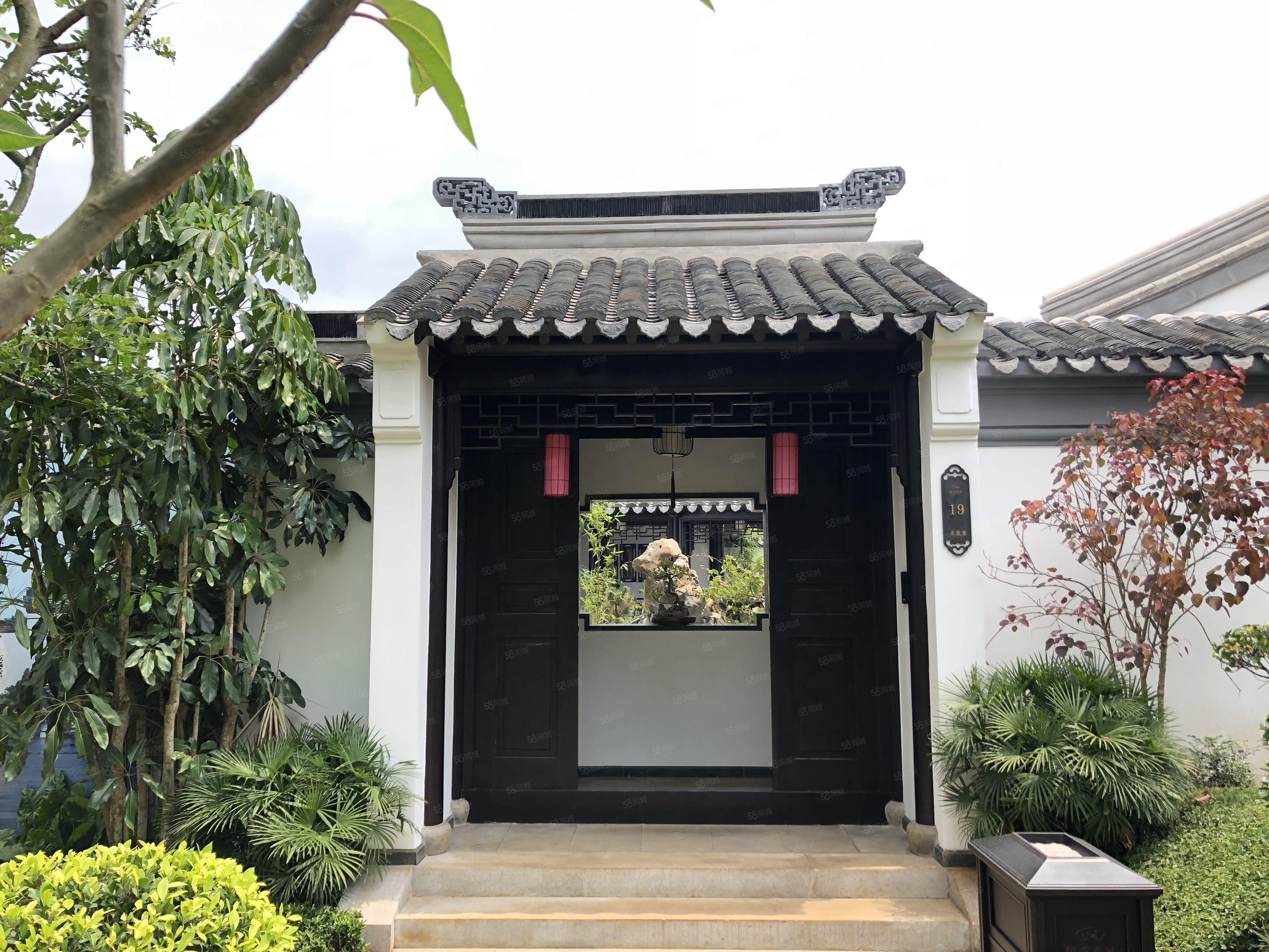 世外桃源绿城桃李春风带精装的独栋别墅中式风格一线湖景