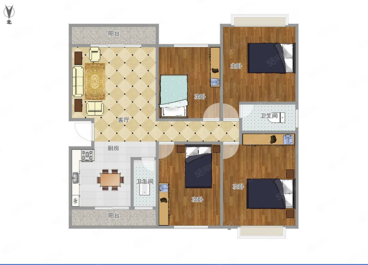 澳门拉斯维加斯平台山水城140平大四房,有钥匙,仅售62万,南北通透