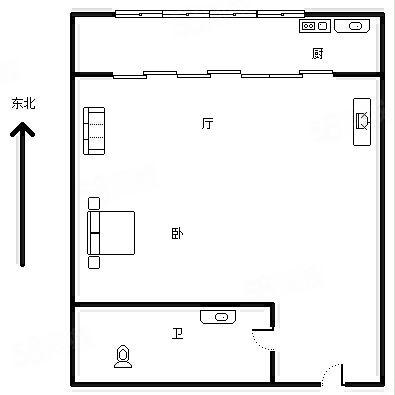 青年公社公寓式房屋出租采光好精装修拎包入住随时看房