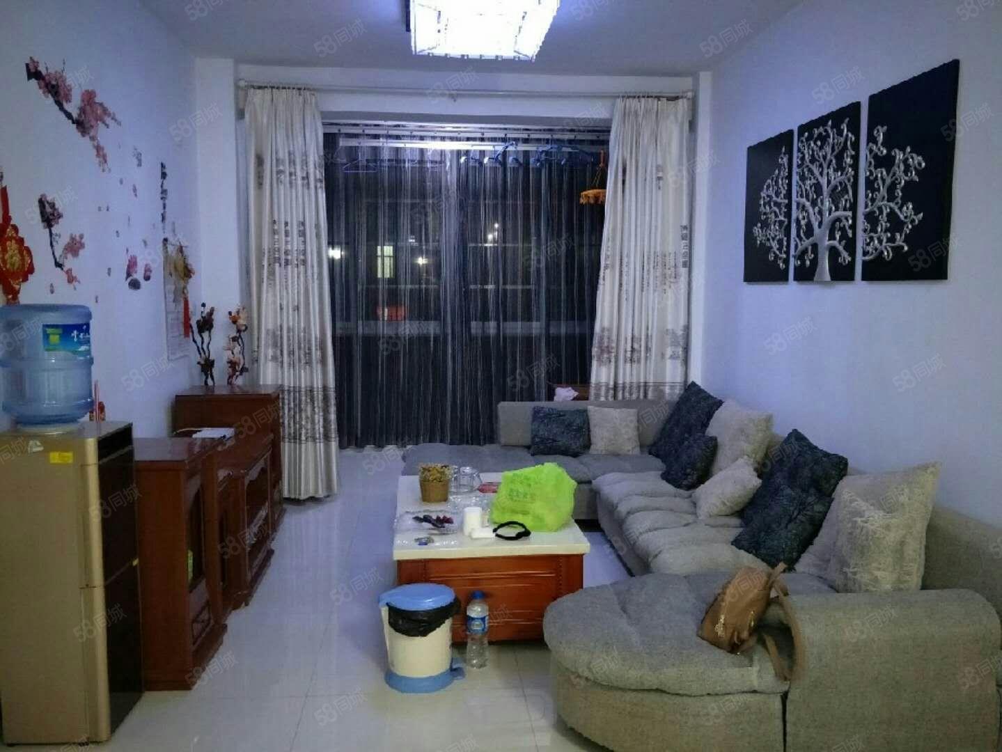急租秀峰苑4楼+85平米+精装两室+1250/月+拎包即住