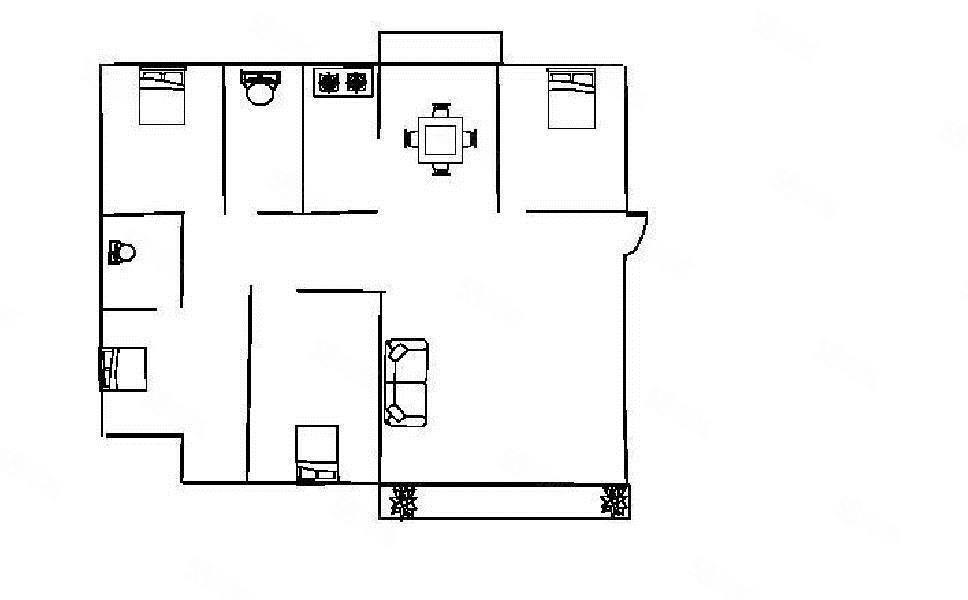 好楼层55.2万可得南北通透景泰园精装楚雄137平4房