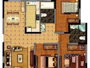 鹿城付精装修128平米大三房全明户型东边户南北通透