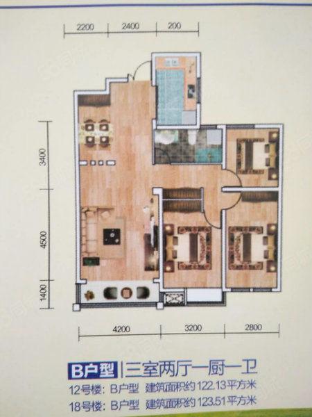 馨月湖225平米复式楼95万可按揭