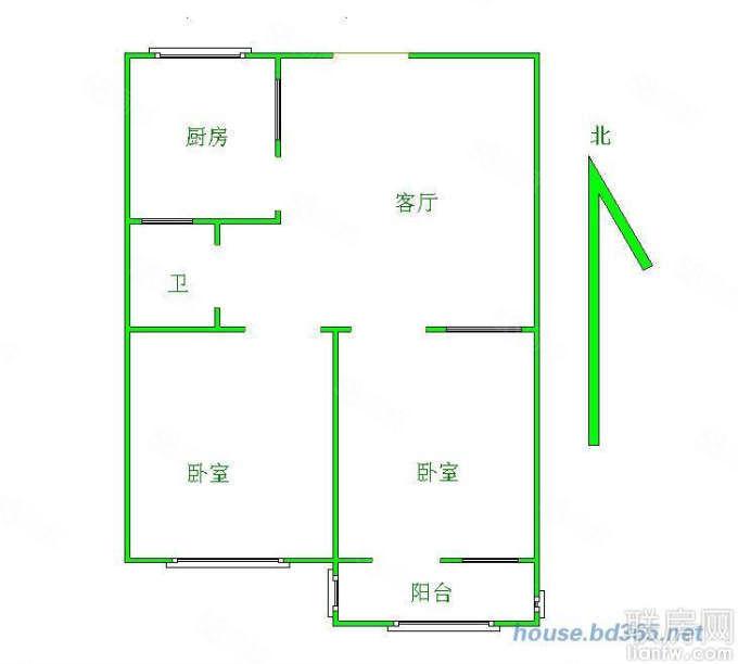 布厂街张家门53平两室一厅两室一厅仅售55万单价一万一