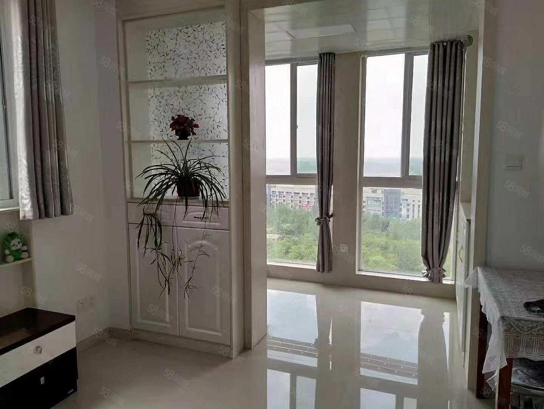 滨河湾精装2房1300每月家具家电齐全采光刺眼的大阳台