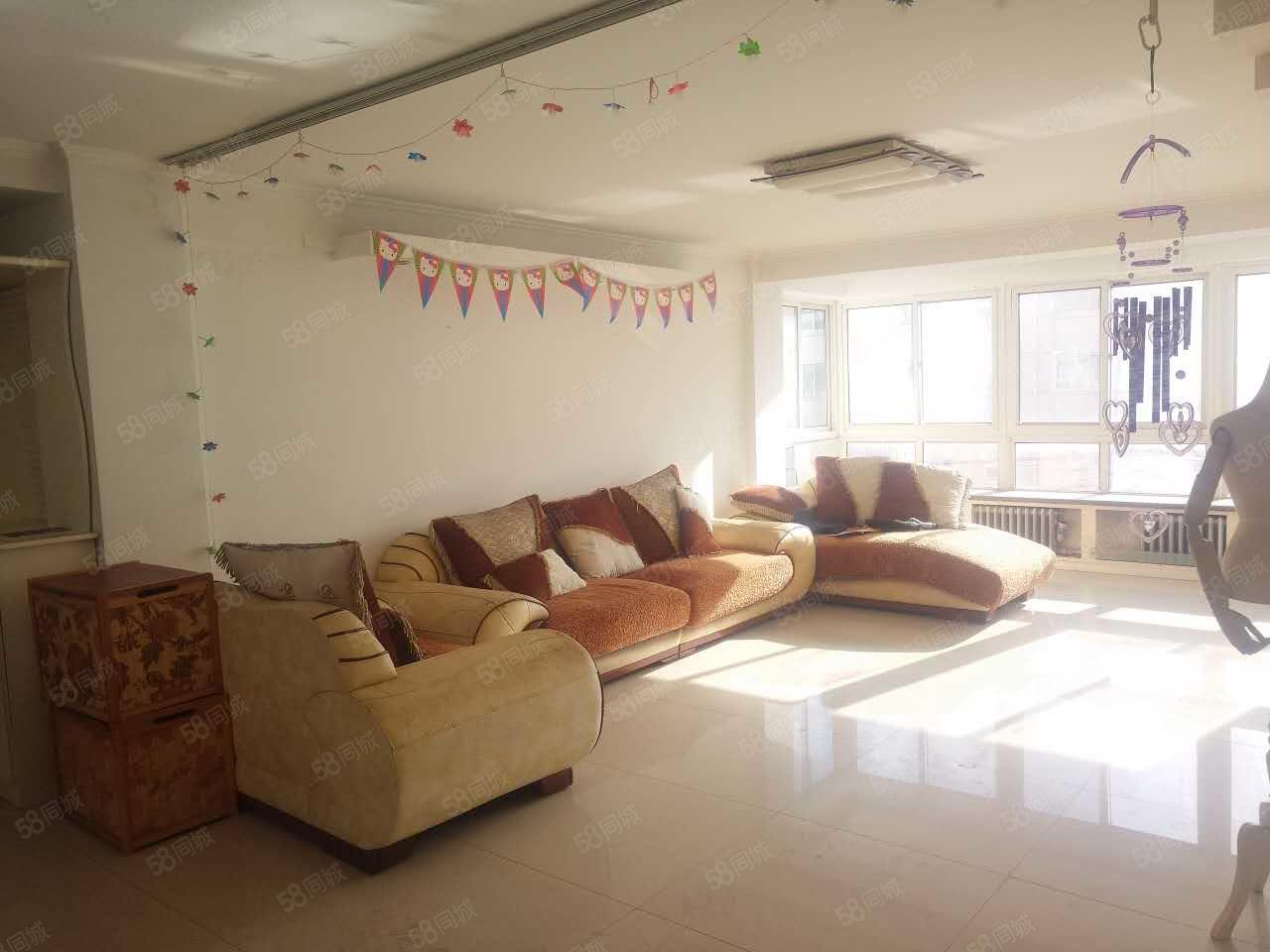 富锦家园2室2厅125平米5楼带阁楼包取暖家电齐全