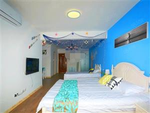 滨海大道旁豪华装修套一出租家具家电齐全有独立阳台看房方便