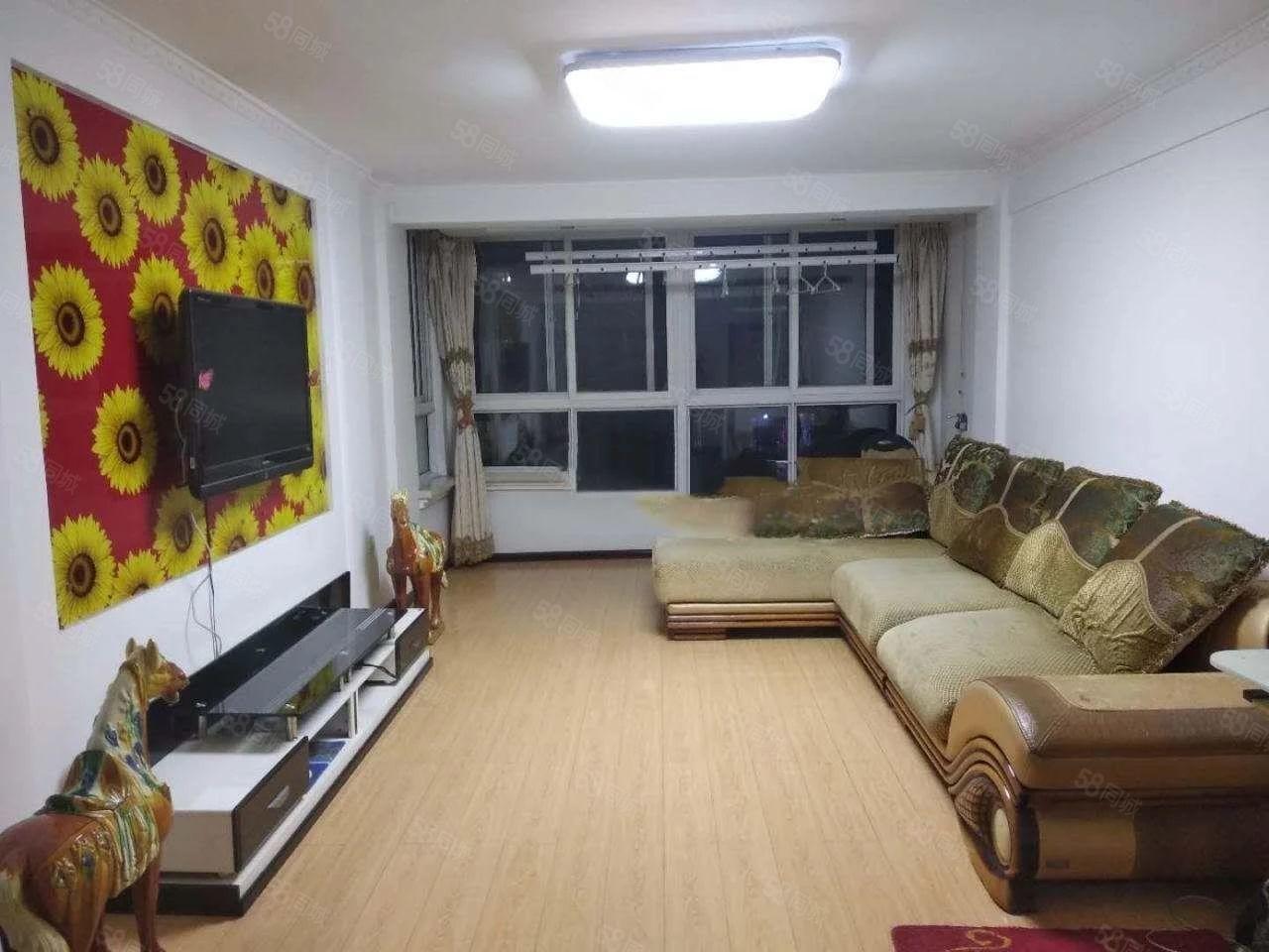 宝地城B区2室1厅有装修家具家电齐全拎包入住包取暖