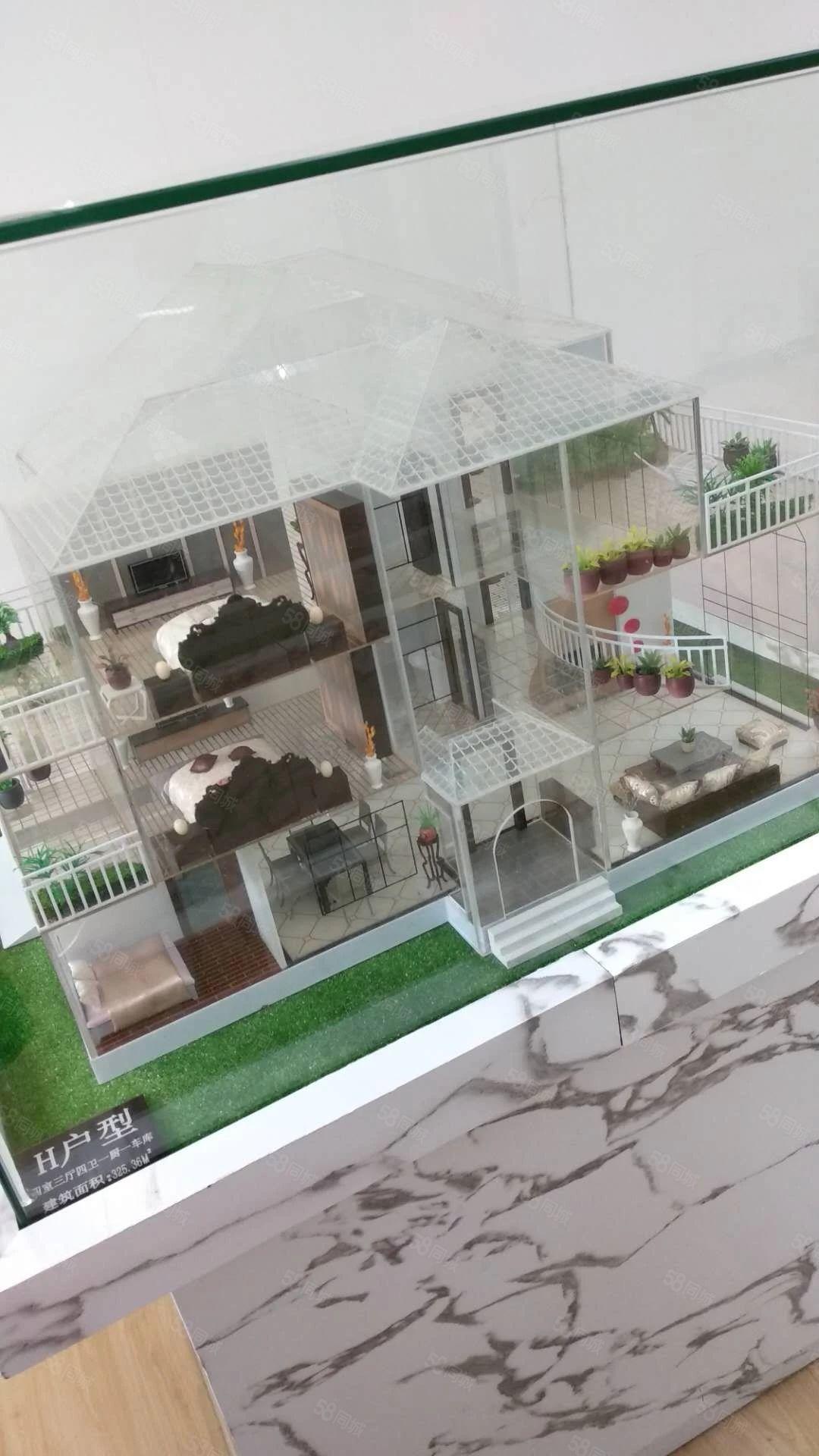 长桥左岸别墅带花园车库3万看房方便直接签合同欢迎实地看房