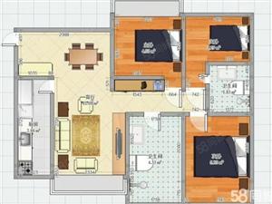 麒麟郡三室两厅一卫南北通透有证可贷款看房方便