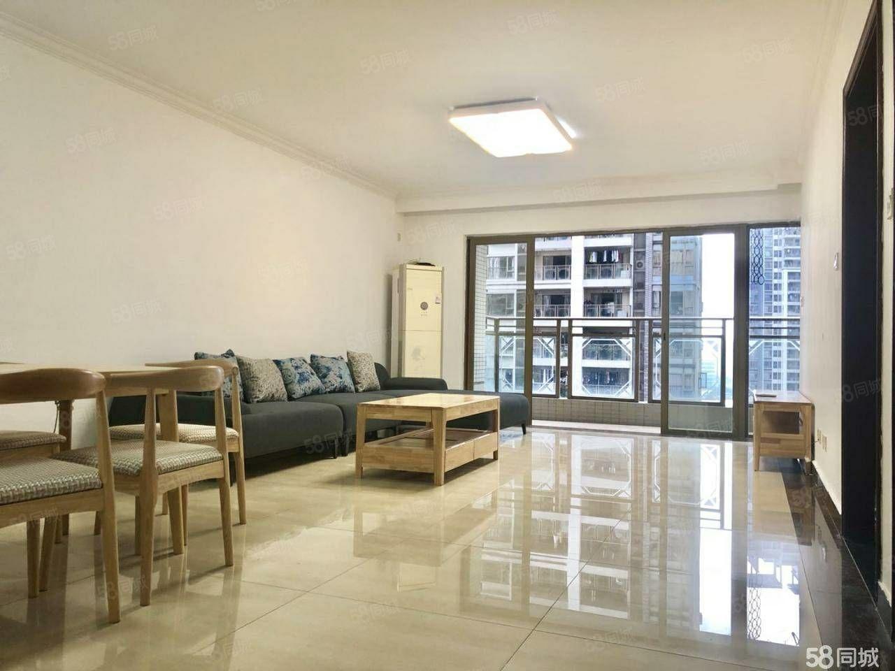 晨辉帝景府这2室2厅1卫,精装修,家具家电齐全,拎包入住。