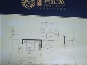 港越世纪城2室2厅1卫