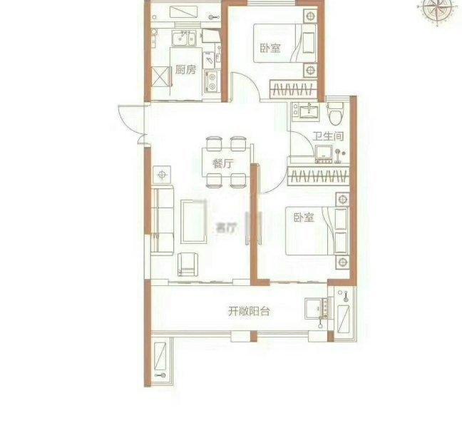 高新區西流湖90平兩房118平三房低價